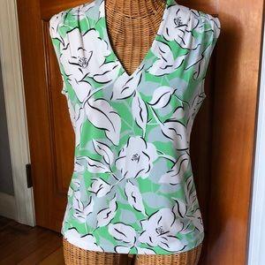 Ann Taylor flowered sleeveless shirt small
